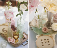 Eclectic Vintage Tablescape with Button Table Numbers