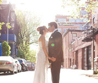 City Bride and Groom Portrait
