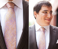 Pinstripes and Pocket Square Groom Attire