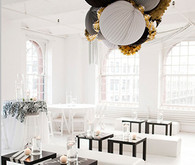 Large Tissue Lanterns and Metallic Fringe