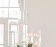 Floating Candles and Hurricane Vase Reception Decor