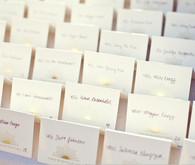Sunburst Escort Cards