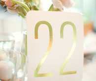 Simple Gold Table Numbers