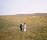 Bride and Groom Field Portrait