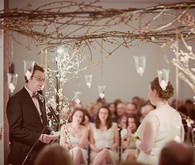 Romantic ceremony decor