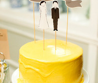 Bright yellow cake