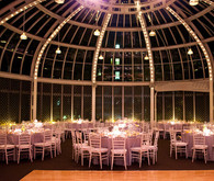 Night reception venue and dining decor