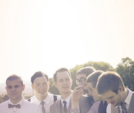 Vintage bow ties on groomsmen