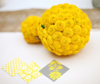 Yellow floral reception decor
