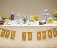 Love is Sweet Banner Sweets Table