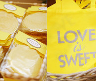 Yellow love is sweet take home bags