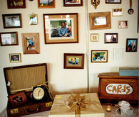 Vintage photo frame wall