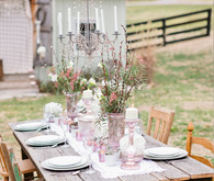 Blush inspired table decor