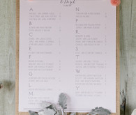 Elegant blush inspired seating chart