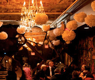 Pom pom reception decor