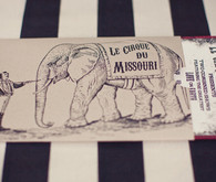 Whimsical world circus invitation envelope