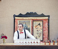 Whimsical world circus bartender