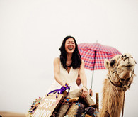 Bride on camel portrait