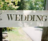 Beautiful simple wedding banner