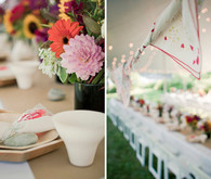 Bright reception decor