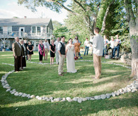 beautiful simple outdoor ceremony