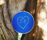 Blue initials ceremony decoration