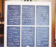 Chalkboard photo frame seating chart