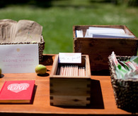 Guestbook and ceremony decor