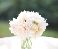 Muted pink dahlia centerpiece decor
