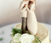 Beautiful couple's cake topper
