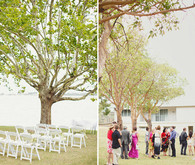 Outdoor fall ceremony