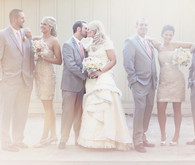 Dreamy pastel bridal party