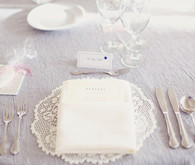 White lace table setting