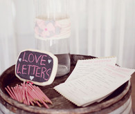 Pink love letter decor
