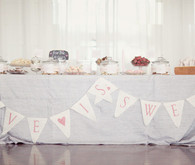 Love is sweet bunting for dessert table