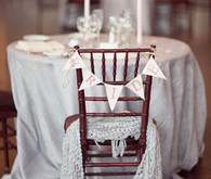 Bride's chair and table