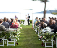 Classy floral arrangements for chairs