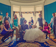 Colorful and bright bridal party