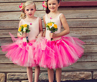 Pink ballerina flower girls