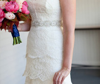 Rivini lace bridal dress detail