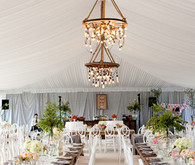 Beautiful white and ornate reception seating