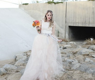 Handmade Blush dress by Chantelle