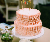 Peach Ruffled Cake
