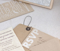 White on craft wedding invites