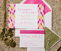 Moroccan inspired wedding invites