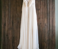 Bohemian ruffled wedding dress