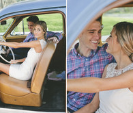 Vintage car engagement shoots