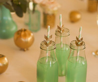 green and gold cocktail ideas