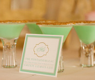 Green & gold cocktail ideas