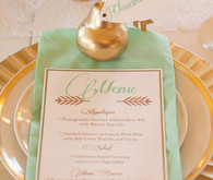Gold pear escort card